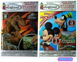 Colorforms Boys Lot 2 Jurassic World + Disney Junior Mickey Play Sets Retro NEW
