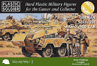 15MM GERMAN SDKFZ 231 8 RAD ARMOURED CAR - PLASTIC SOLDIER COMPANY - WW2V15031