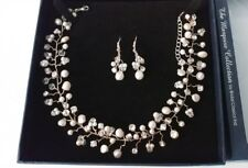 Bridal classics Marquise collection Pearl & crystal bead Choker & earing set