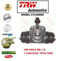 FOR VW GOLF Mk I II + Cabriolet 1974-1992 1x REAR AXLE WHEEL BRAKE CYLINDER