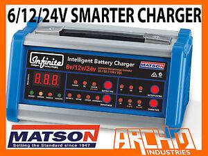 MATSON 6/12/24V INFINITE SMART BATTERY CHARGER SUIT 100AH/OPTIMA/ODYSSEY/AGM