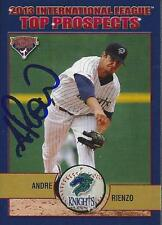 Andre Rienzo 2013 International League Top Prospects Signed Card