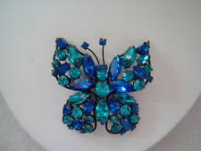 Regency Butterfly Brooch- BEAUTIFUL Blue and Turquoise