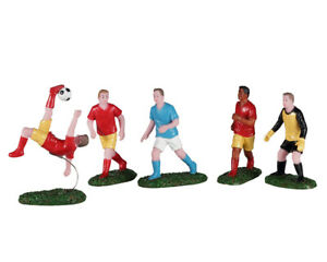 Lemax Christmas Village - PLAYING SOCCER, SET OF 5 - 02961