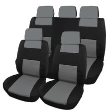 9PCS Full Set Car Seat Cover Cloth Fabric Front Back Protector Universal Fit