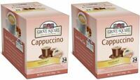 2 Boxes - Grove Square K-Cups - Cappcuccino Mix - Hazelnut, Coffee Pods 24 Count