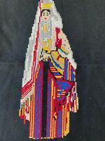Antique Middle Easter/Turkish Pair Colorful Hand Embroidery Women, MB352