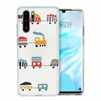 For Huawei P30 PRO Silicone Case Steam Train Pattern - S2810