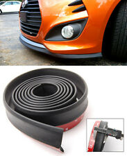 "1.3"" x 8 FT Black Front Bumper RUBBER Lip Splitter Body Kit Spoiler Valence Chin"