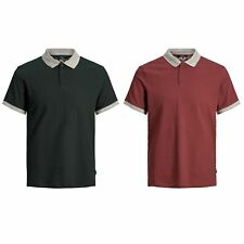 Jack&Jones Hombre Polo camiseta con cuello corta 21791