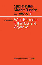 NEW Word Formation in the Noun and Adjective by J. K. W. Norbury