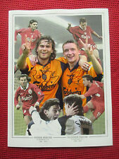 LIVERPOOL LEGENDS PATRIK BERGER & VLADIMIR SMICER HAND SIGNED 12x16 PHOTO - COA