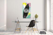 Sticker mural autocollant planche de Surf Aloha taille: 60 120 cm