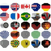 Dart Flights Standard, 25-Set (75 Pcs) Plastic Dart Tails with National Flag
