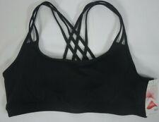 NWT $44 Sz XL Athleta Black Fully Focused Powervita Sports Workout Bra #591284