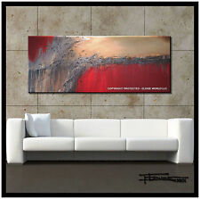 ABSTRACT PAINTING Large Canvas Wall Art Direct from Artist Red USA ELOISExxx