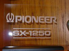 PIONEER SX-1250 ETCHED GLASS SIGN W/BASE
