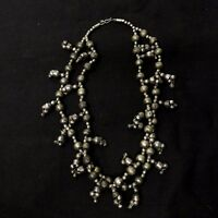 Vintage Chunky Kuchi Alpaca Silver Double Strand Necklace Belly Dance Tribal