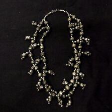 Vintage Chunky Kuchi Alpaca Silver Double Strand Necklace Belly Dance Tribal