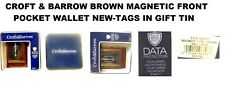 CROFT & BARROW GENUINE BROWN LEATHER MAGNETIC FRONT WALLET NEW IN BOX WITH TAGS