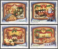 Switzerland 2014 Christmas/Greetings/Crib/Santa Claus/Tree/Gingerbread 4v ch1014