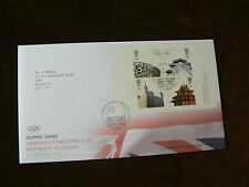 Olympic Games Handover of Flag m/s, 2008 First Day Cover