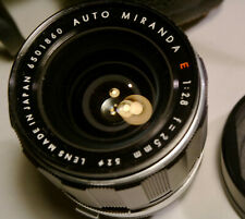 Miranda E 25mm f2.8 mit Zubehörpaket, Miranda-Bajonett