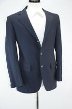 Vintage H. Freeman & Son Navy Blue Wool Sport Coat 39R Made in USA