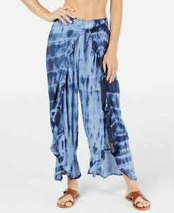 Raviya Women's Tie Dye Cover-Up Pants Blue Size Small