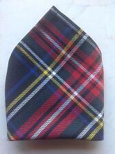 *NEW* Gents Mens Tartan Pocket Square Handkerchief Hankie - Various Tartans