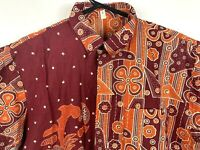 Men's Traditional Batik Shirt Hand Made in Indonesia Size Small NWT!