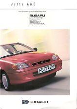 Prospekt / Brochure Subaru Justy 01/2001