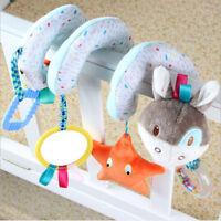 Newborn Baby Animals Spiral Rattle Infant Bed Stroller Crib Plush Doll Bell Toy