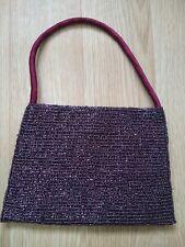 Accessorize Purple Beaded Handbag Evening Party