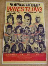 Polynesian Championship Wrestling Poster Featuring Ric Flair, Antonio Inoki