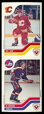 1983-84 Jim Peplinski / Doug Smail NHL Vachon '83 #16 / #136 NM Panel Uncut