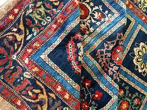 Perser Teppich Designer Luribaft Handgeknüpft Blau Rug Carpet Alfombra Tapis