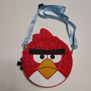 girl purse Popit Fidget Toy Push Bubble Sensory Stress Relief Angry birds bag