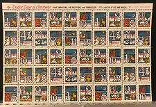 1973 Christmas Seals Experimental Issue Pane of 50 - Item #5195