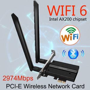 3000Mbps Wireless AX200 wifi 6 PCI-E Card PCI WiFi Bluetooth 5.1 PC adapter