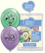 """6 pc 12"""" Precious Moments Party Latex Balloons Welcome Home Baby Shower"""