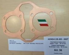 Honda CB450 Cappellini Moto solid copper head gasket 74mm bore X 1mm thick #36