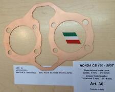 Honda CB450 Cappellini Moto solid copper head gasket 74mm bore X 1mm thick #36