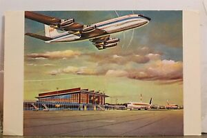 Rhode Island RI Warwick Theodore Francis Green Air Terminal Building Postcard PC