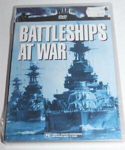 The War File Battleships At War DVD 2002 Brand New & Sealed