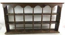Vtg. Wooden Wall Display Shelf Lot 2557