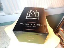 """Miami Cigar """"Nestor Black Satin Finish Wood CIGAR BOX w/ Hinged Lid 7""""x4.5""""x3.5"""""""