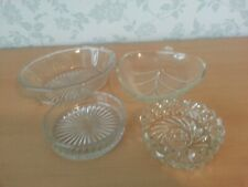 4 Glass Serving Dishes, Olives / Nibbles / Dips
