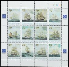 1993 FAMOUS SAILING SHIPS CLIPPERS FLYING CLOUD NH SHEET OF12 SCT.168 MI 277-288
