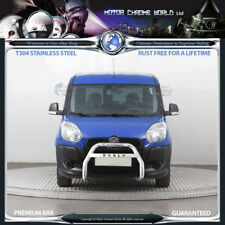 FITS FIAT DOBLO CHROME NUDGE PUSH LOGO A STAINLESS STELL BULL BAR 2010-2015 NXL1